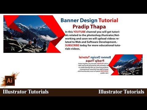 How to design  banner in illustrator cc l YouTube Tutorials Tuts thumbnail