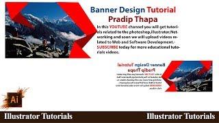 How to design  banner in illustrator cc l YouTube Tutorials Tuts