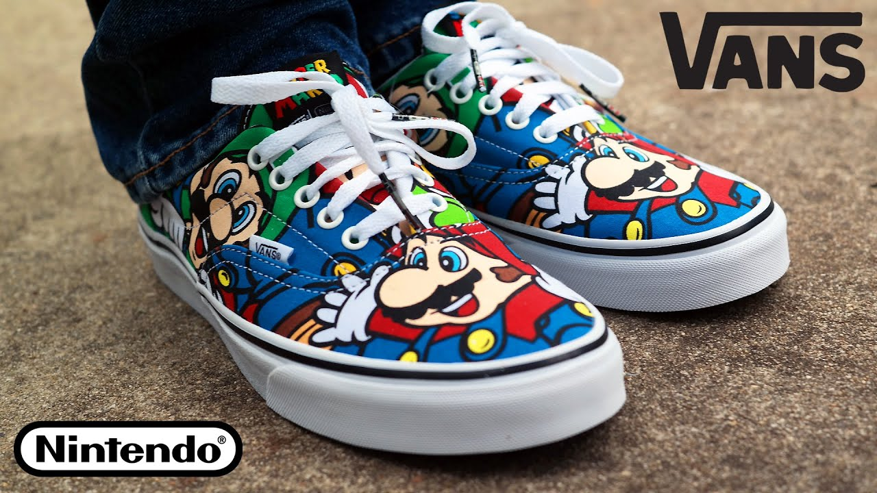 vans x nintendo. vans x nintendo collection mario \u0026 friends shoes | retro gaming fashion! - youtube