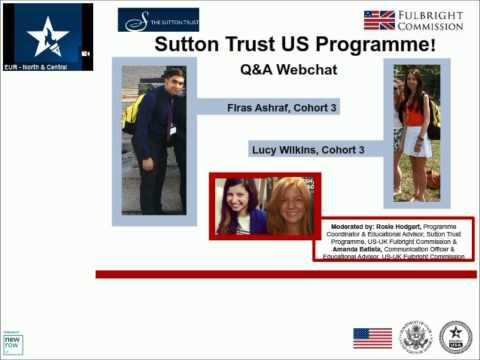 Sutton Trust Q&A Webchat