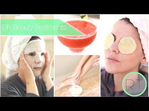DIY Summer Beauty Treatments (Sheet Masks, Eye Pads, After Sun Gel)