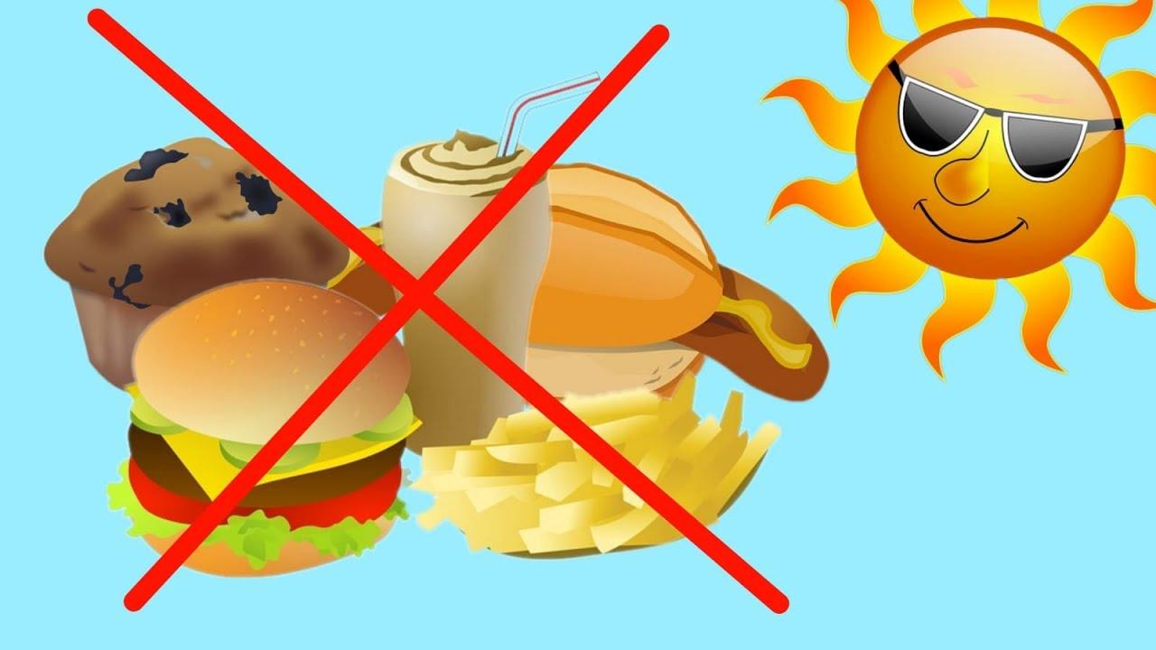 Die beste Ernährung für heiße/ warme Tage!