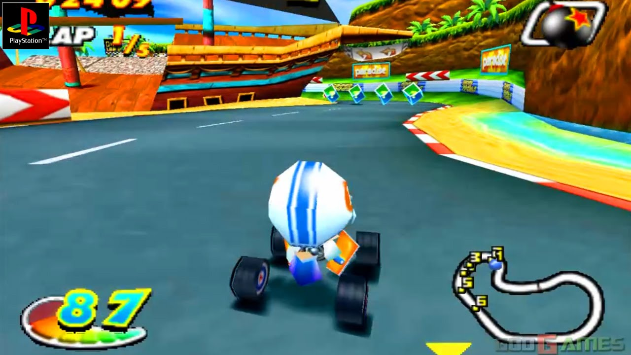 Speed Freaks - Gameplay PSX / PS1 / PS One / HD 720P (Epsxe)
