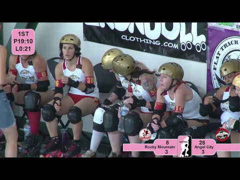 Rocky Mountain Rollergirls v Angel City Derby Girls: 2012 West Region Playoff