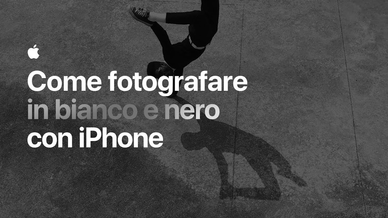 Come Fotografare In Bianco E Nero Con Iphone Apple Youtube