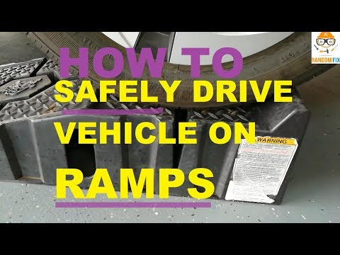 """How to Drive Vehicle on Service Ramps for Oil Change by YOURSELF """"SAFELY"""""""
