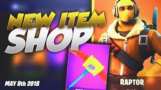 FORTNITE RAPTOR SKIN IS BACK! May 8 2018 Daily Item Shop