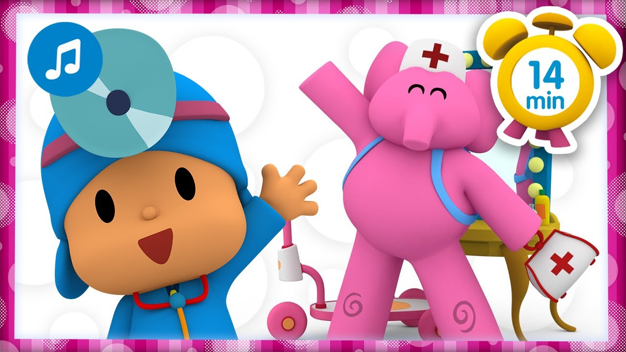 🏥💖THE BOO BOO SONG + More  Nursery Rhymes & Kids Songs [ 14 minutes ] | Pocoyo