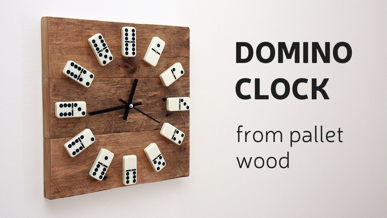 Diy Domino Clock From Pallet Wood Youtube