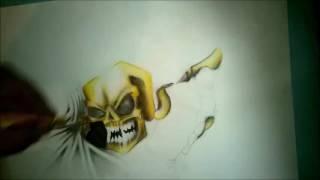 Draw Graffiti Skull (By: Cinek)