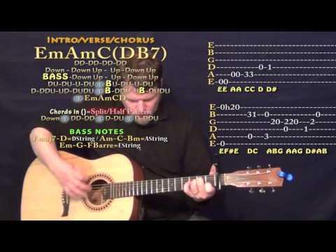 Adore (Cashmere Cat) Guitar Lesson Chord Chart - Capo 1st Fret