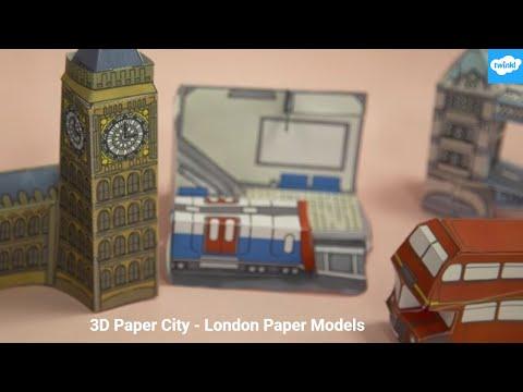 3D Paper City - London Paper Model Crafts