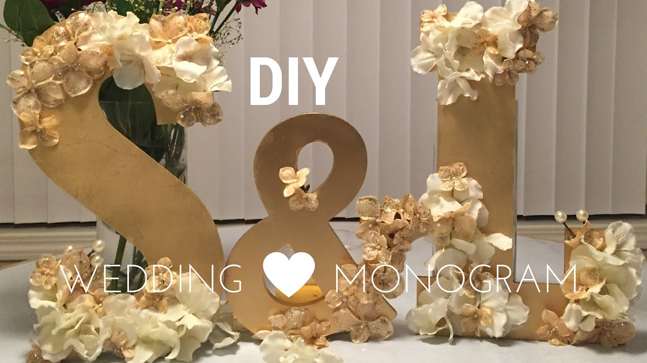 Diy wedding decorations wooden monogram set tutorial youtube junglespirit Image collections