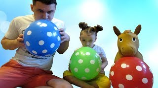 Learn Colors With Balloons for Children Finger Family Song by UT kids