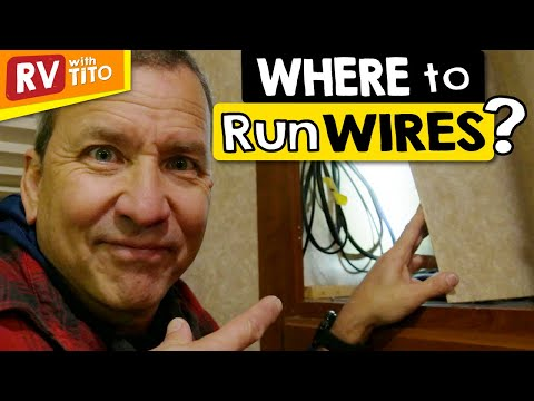 Running Wires Through RV Walls // How To