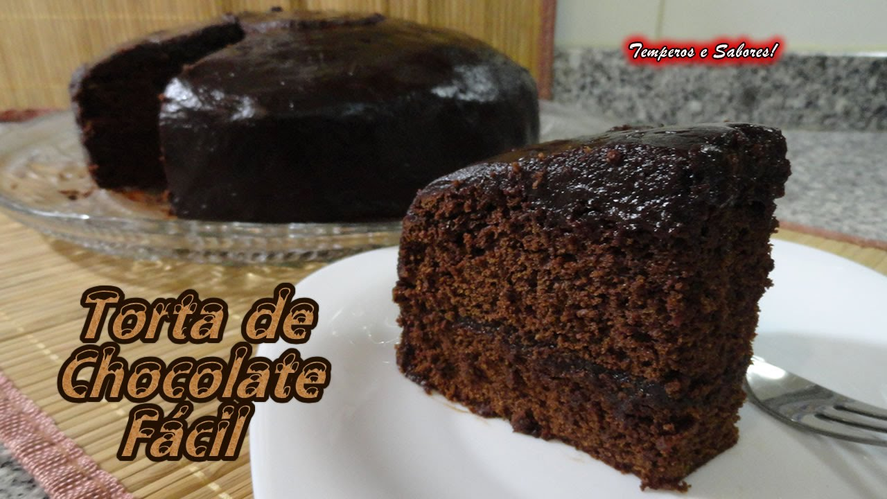 receta facil de torta de chocolate