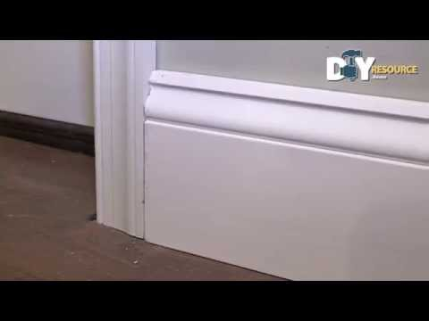 Install Baseboard Molding Against Door
