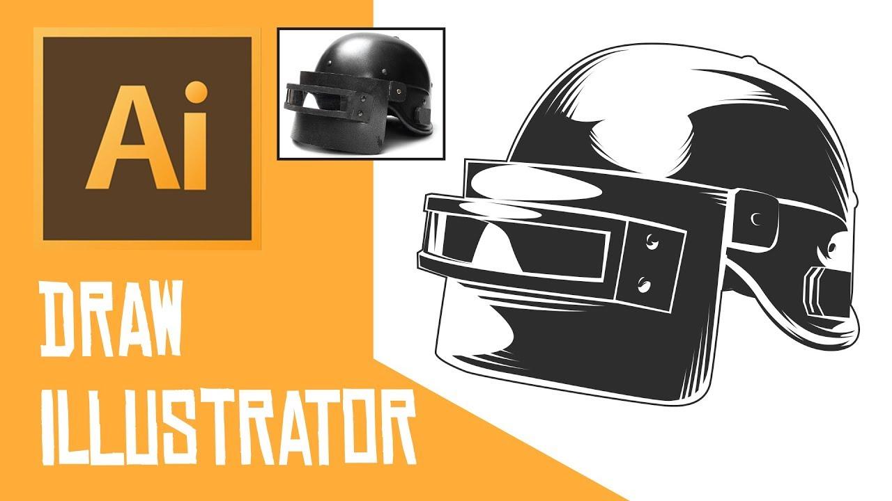 Pubg Helmet: Adobe Illustrator Tutorial: Drawing Pubg Helmet Level 3