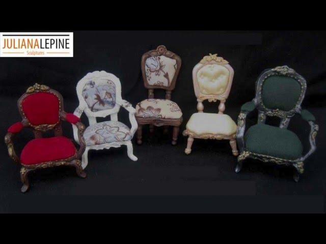 Sillas Miniatura en Porcelana Fria