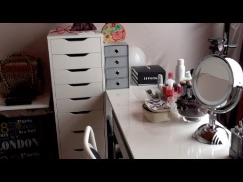 mon rangement maquillage mon coin beaut youtube. Black Bedroom Furniture Sets. Home Design Ideas