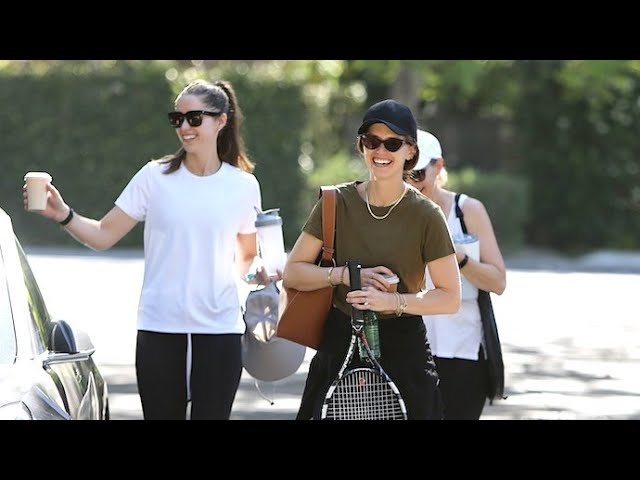 Katherine Schwarzenegger And Sister Christina Wrap Up Their Tennis Match In Brentwood
