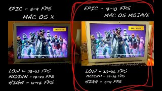 Fortnite gameplay on macbook air2017!!!! Mac os x vs Mojave FPS Comparison!! {Crazy FPS boost!!}