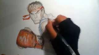 Street fighter lV RYU dibujo\draw.