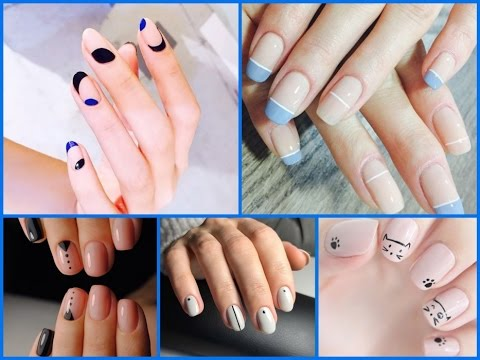 25 Trendy Minimalist Nail Art Easy Nail Art Designs Youtube