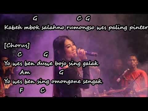 Bojo Galak Via Vallen Chord lirik