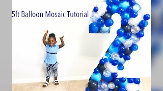 DIY 60 inch, 3D Balloon Mosaic Number / Letter Tutorial