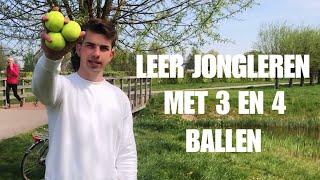 LEER JONGLEREN MET 3 EN 4 BALLEN!