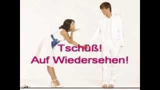 Песня для запоминания фраз приветствия и прощания на немецком языке