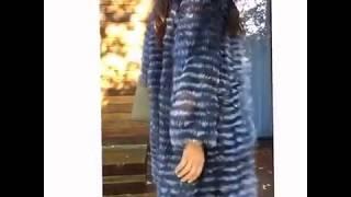 видео Пальто из бобра с чернобурой лисой