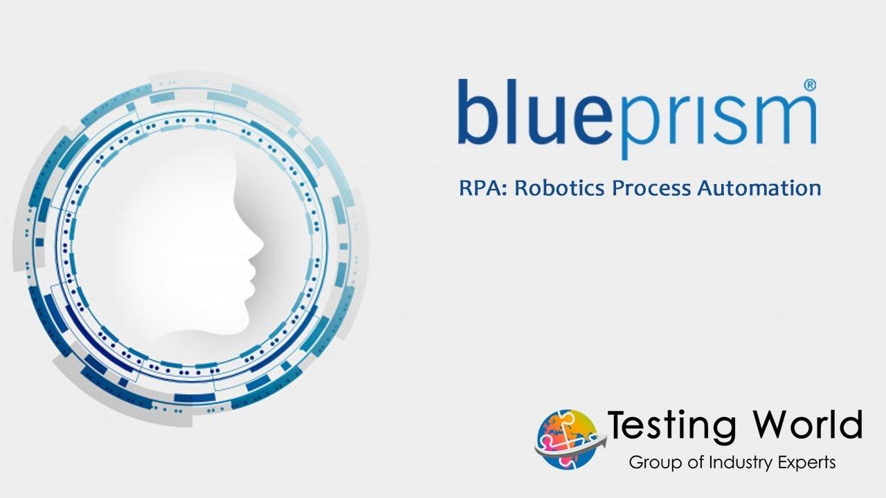 Robotics Process Automation Blueprism Workflow Youtube