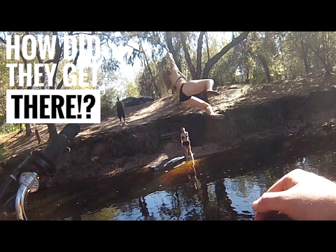 Pit Bike Adventures #1 | RANDOM GIRLS SWIMMING IN THE WOODS!