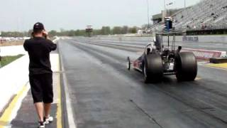 NHRA Division 3- Jacob Elrod Wheelstand in Top Dragster Qualifying
