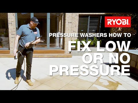 How to fix a low or no pressure issue with a RYOBI pressure washer