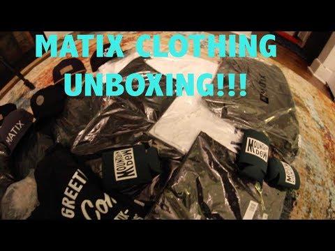 MATIX CLOTHING UNBOXING!!! BEST SKATEBOARDING CLOTHING BRAND