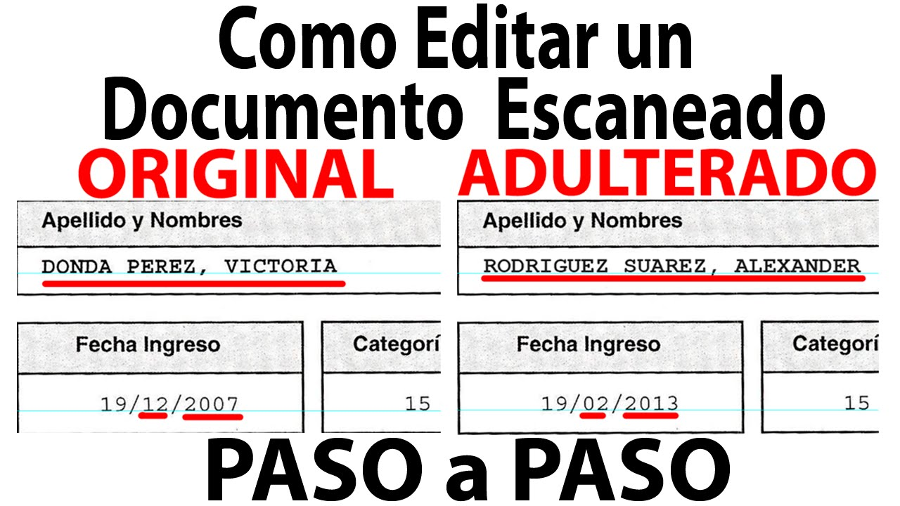 Como Editar un Documento Escaneado Paso a Paso (Fácil) - YouTube