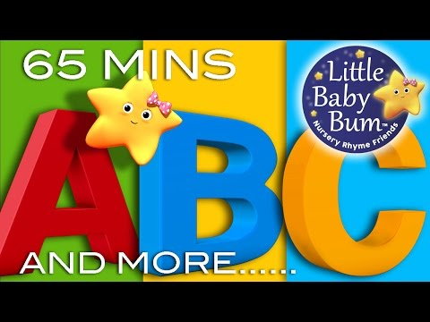 ABC Alphabet Songs  And More ABC Songs!  Learning Songs 65 Minutes Compilation from LittleBaBum!