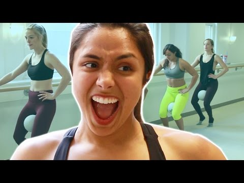 Women Try Ballet Fitness For The First Time