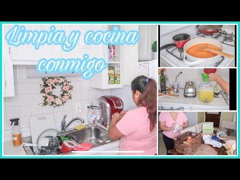 COCINA Y LIMPIA CONMIGO// MOTIVATE A LIMPIAR// RUTINA DE LIMPIEZA//LIMPIA CONMIGO