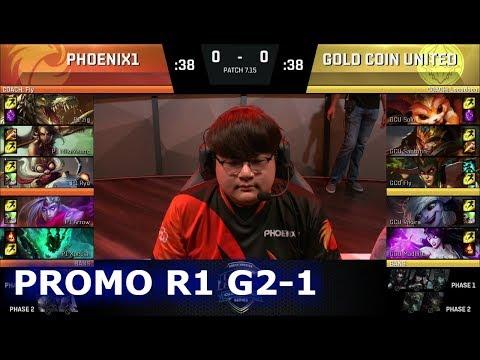 Phoenix1 vs Gold Coin United Game 1 | Promotion/Relegation S7 NA LCS Summer 2017 | P1 vs GCU G1