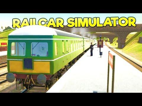 DRIVING AND CRASHING DIESEL POWERED TRAINS! Epic Train Simulator - Diesel Railcar Simulator Gameplay