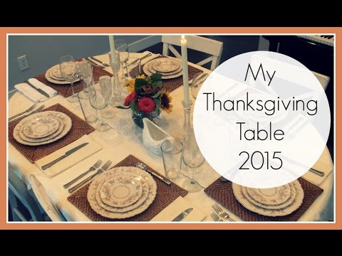 My Thanksgiving Table 2015