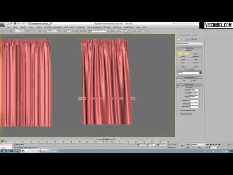 3Ds MAX Using Cloth modifier make curtains