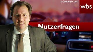 Darf Tanzverbot im Auto masturbieren? | Nutzerfragen Rechtsanwalt Christian Solmecke