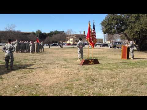Alpha Battery, 2-20th Field Artillery Change of Command