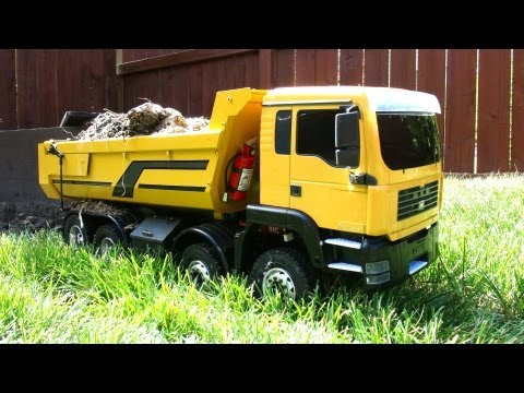 RC ADVENTURES - FPV 1/12 Scale Earth Digger 4200XL Excavator & 1/14 8x8 Armageddon Dump Truck