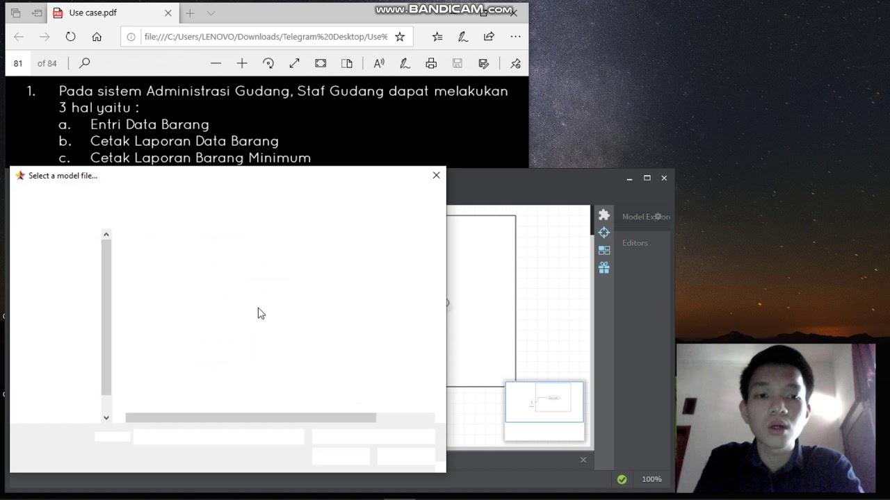 Tutorial membuat Use Case dengan applikasi StarUML - YouTube